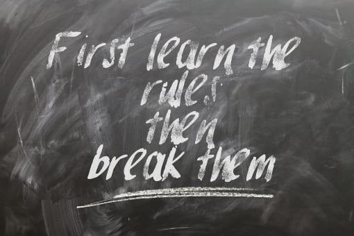 Breche die Regeln und spreche besser Deutsch